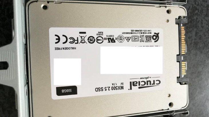 SSD交換手順9